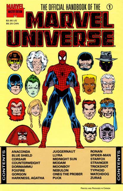 The Official Handbook of the Marvel Universe: Master Edition