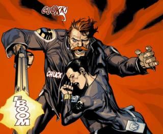 Dugan being ambushed by a Skrull