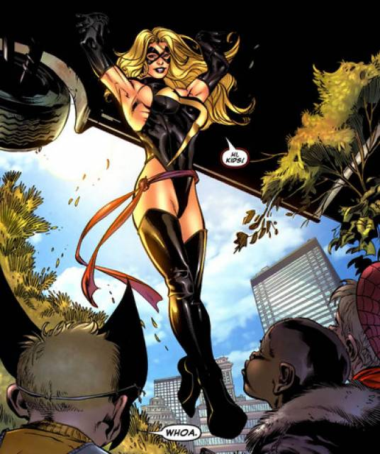 Ms. Marvel - Carrying a massive vehicle with ease