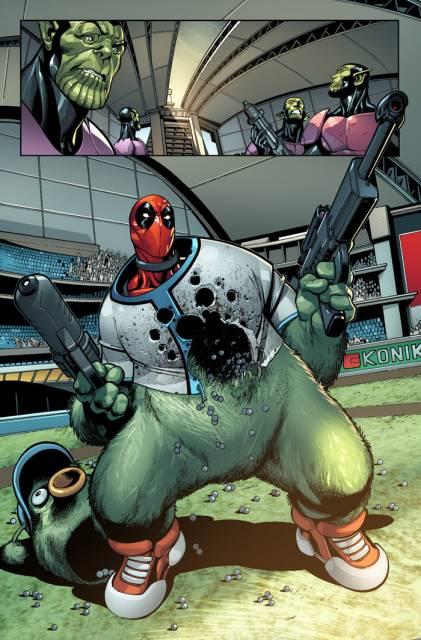 Deadpool takes on the Skrulls