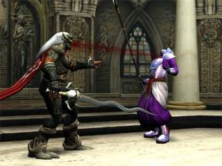 Kain sucking blood from a Sarafan