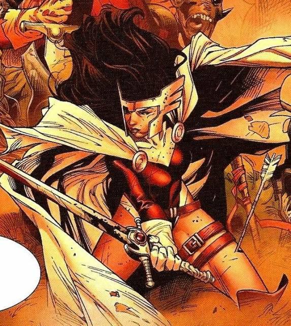Lady Sif in battle