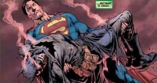 Superman finds the body he thinks is Batman