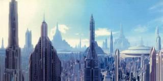 Coruscant's vast city landscape