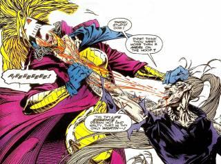 Bloodscream feeds off Cylla.