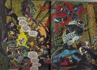 Blaze, Ketch as Ghost Rider, Spider-Man (upper left) and Venom.