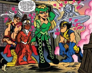 Amora seduces the Super Hero Squad