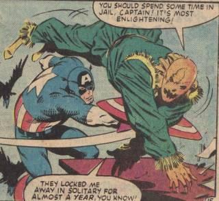 Scarecrow vs Captain America.
