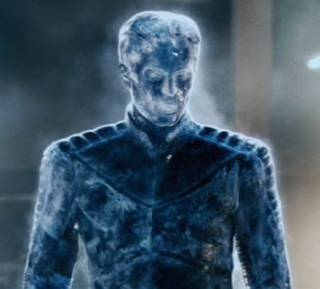Iceman in his ice form for the first time