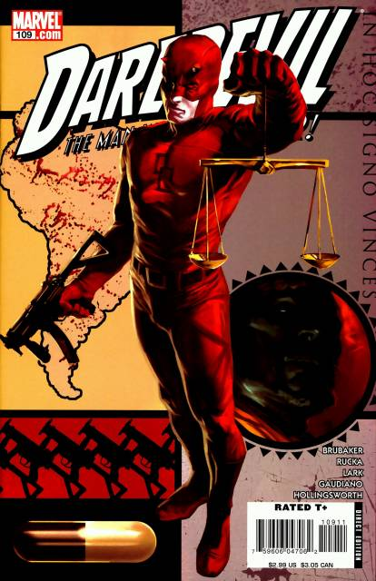 Daredevil holding the Scales of Justice