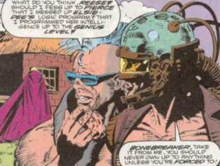 Bonebreaker feels guilty for his screw up with Elsie-Dee.