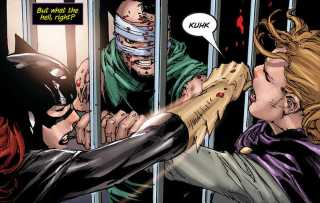 Ricky helps Batgirl against Knightfall.
