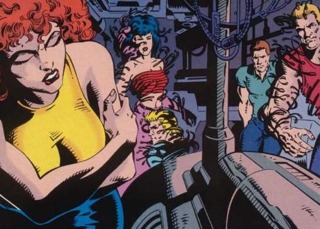 The symbiotes' hosts. (Left to right: Donna, Leslie, Ramon, Carl, and Trevor.)