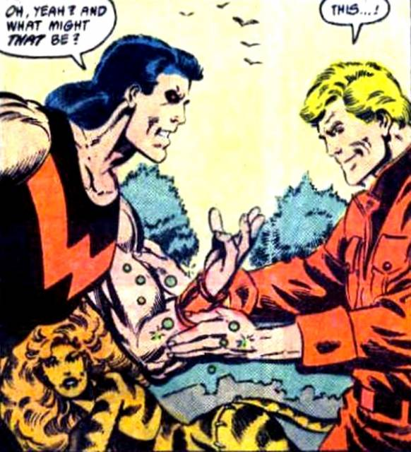 Hank (applying Pym Particles to Wonder Man) starts a relationship with Tigra.