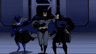Obsidian is to the left of Batman