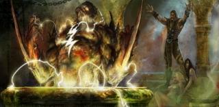 Shang Tsung creates a Tarkatan with Captain Marvels powers