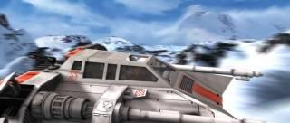 Rendar flies a snowspeeder back from the Battle of Hoth