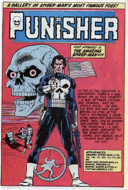 The Punisher started out as a foe of Spider-Man.