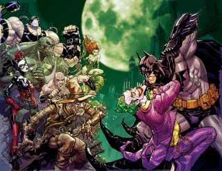 Batman: Arkham Asylum promotional art by Carlos D'Anda