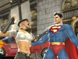Superman fighting Sonya Blade