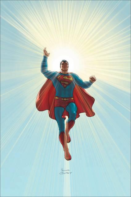 Superman displaying his power