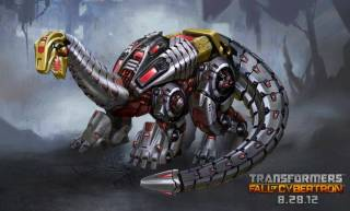 Sludge in dinosaur mode in Fall of Cybertron