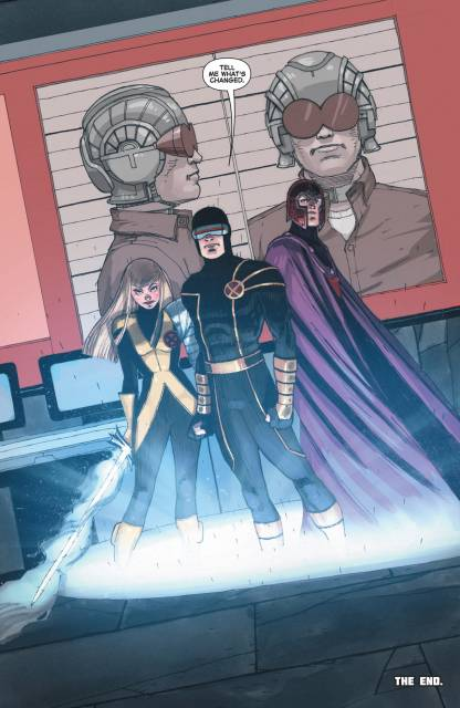Magik teleporting Cyclops out of prison, alongside with Magento