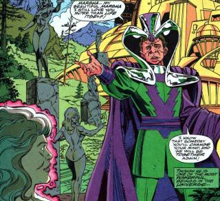 Molecule Man in one of his dorkier moments