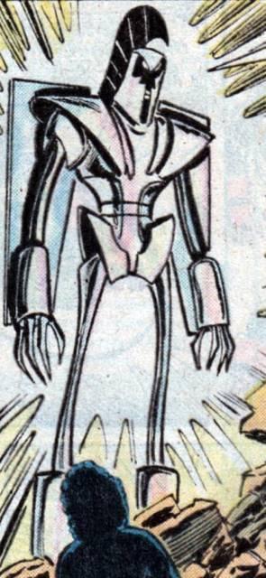 Kubik as armored humanoid