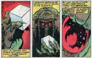 The Man-Thing gets the Cube
