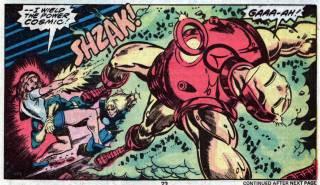 Carina blasts Iron Man