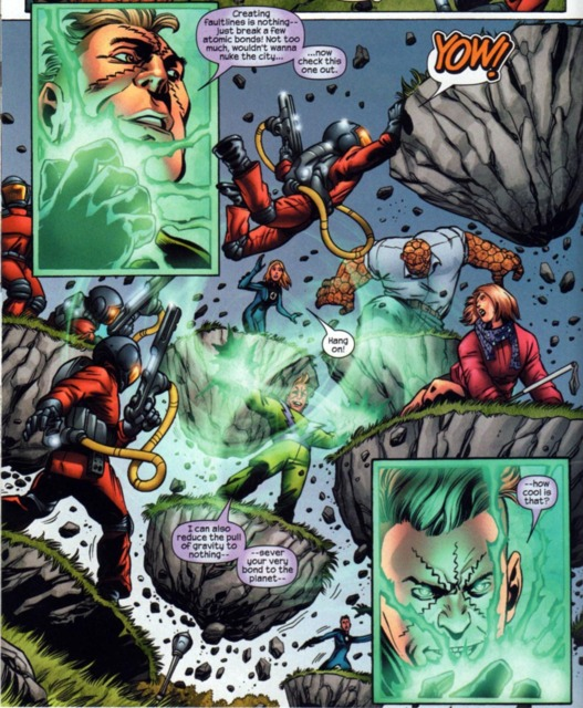 The Molecule Man fights the Fantastic Four