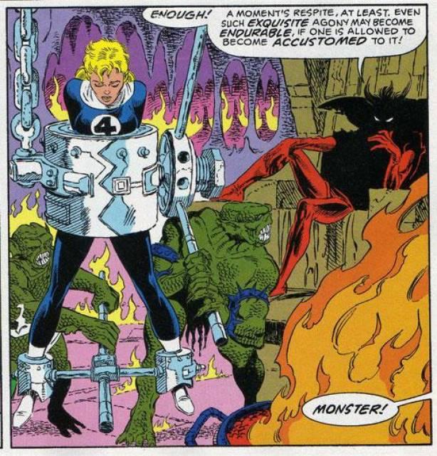 Mephisto tortures Susan Storm Richards
