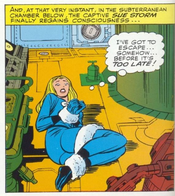 FF 38 (1965) - Sue is bound next to the Q-bomb