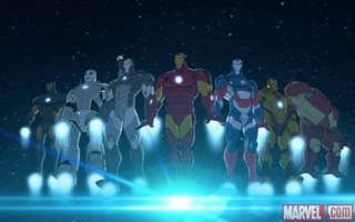 The Iron Legion from Avengers Assemble