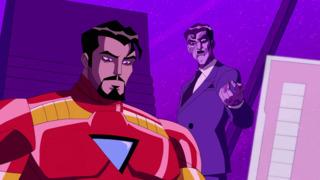 Purple Man controlling Iron Man