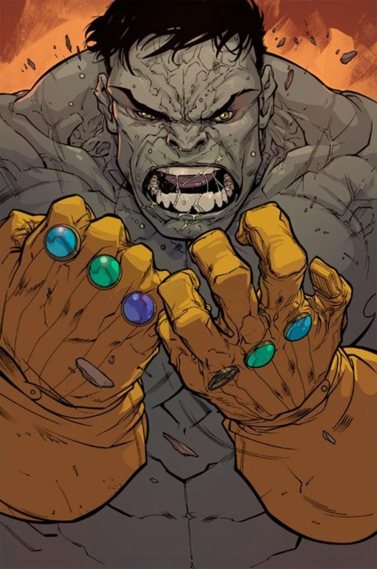 The Hulk with the Infinity Gauntlets