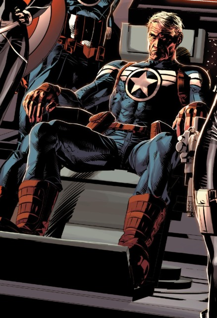 Even aged, Steve Rogers continues the fight.