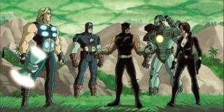 The Avengers in Wakanda