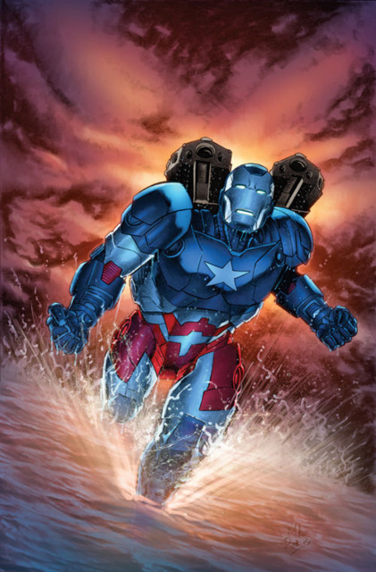 Rhodey as Iron Patriot