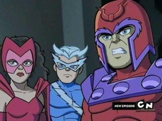 Quicksilver with his sister and Magneto