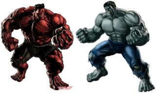 Red Hulk and Gray Hulk