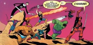 Deadpool during the Secret Wars