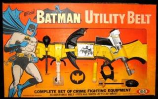 A vintage utility belt toy