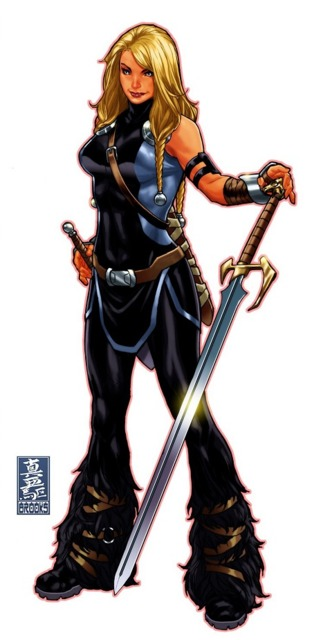 Valkyrie as the leader of the Valkyrior