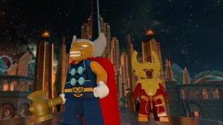 Heimdall and Beta Ray Bill in Lego Avengers