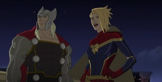 Captain Marvel with Thor