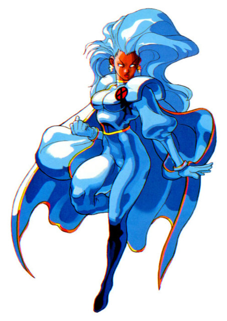 Storm as she appears in Capcom's fighting games