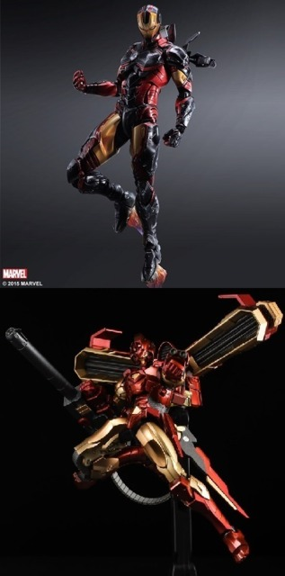 Iron Man figures from Square Enix and Sentinel