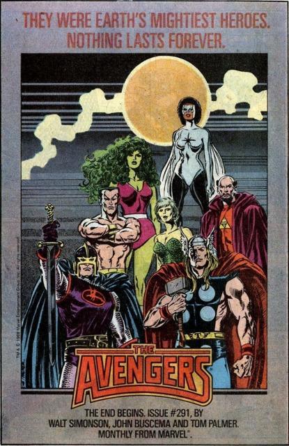 The final days of Captain Marvel's Avengers